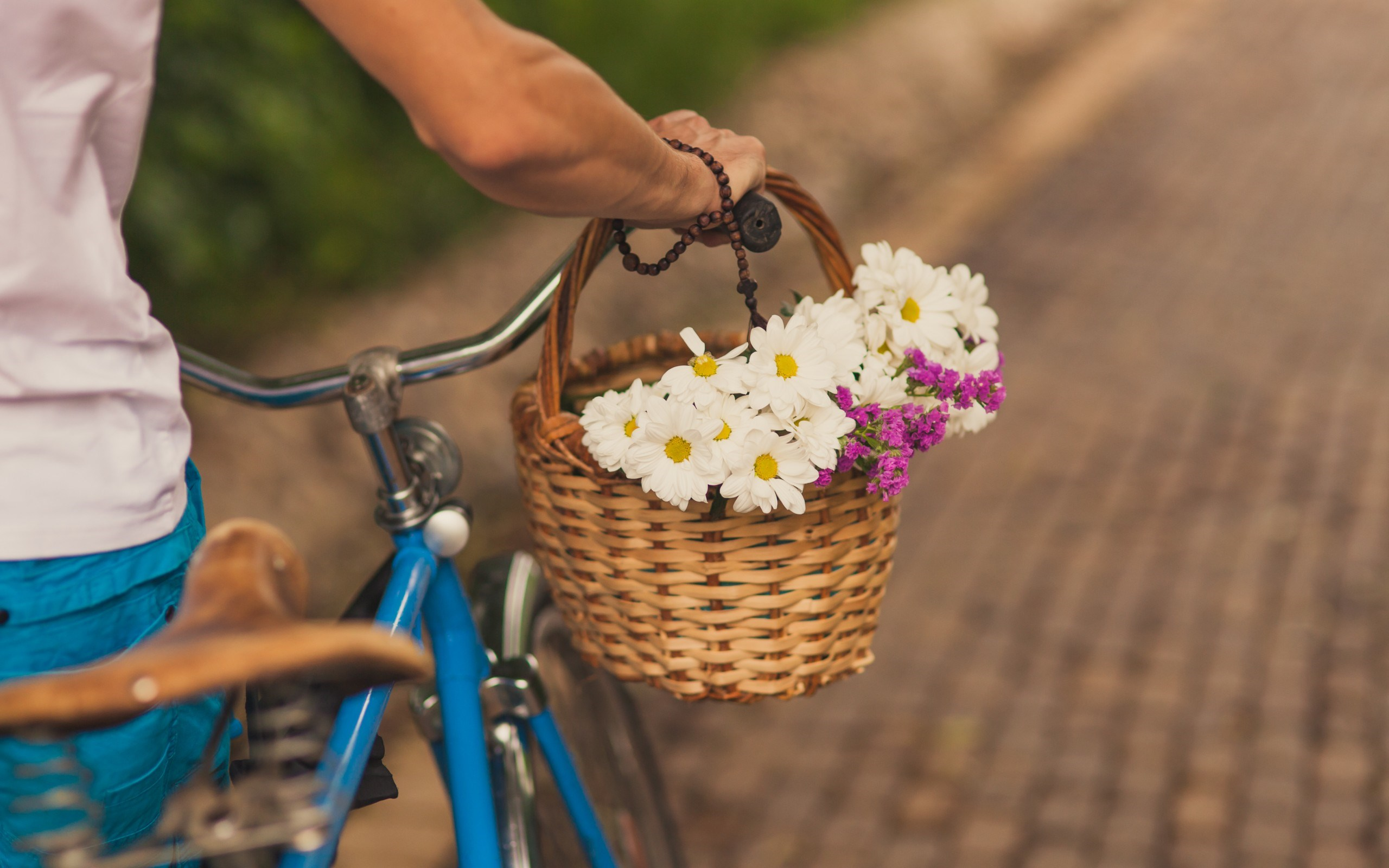 bicycles with flowers wallpaper - photo #30