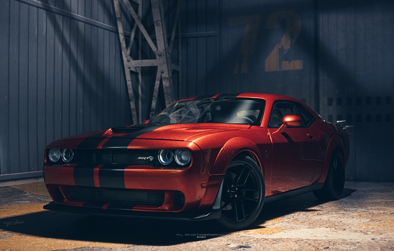 Wallpaper Dodge Challenger muscle car Hellcat Dodge Challenger 1332x850