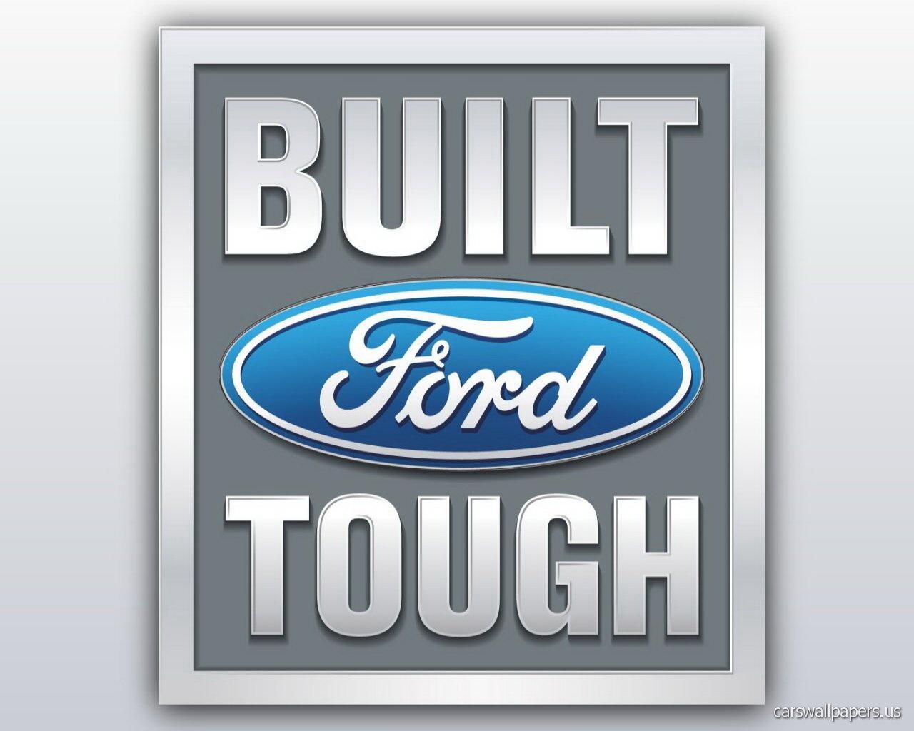 ford built tough logo wallpapers 1280x1024