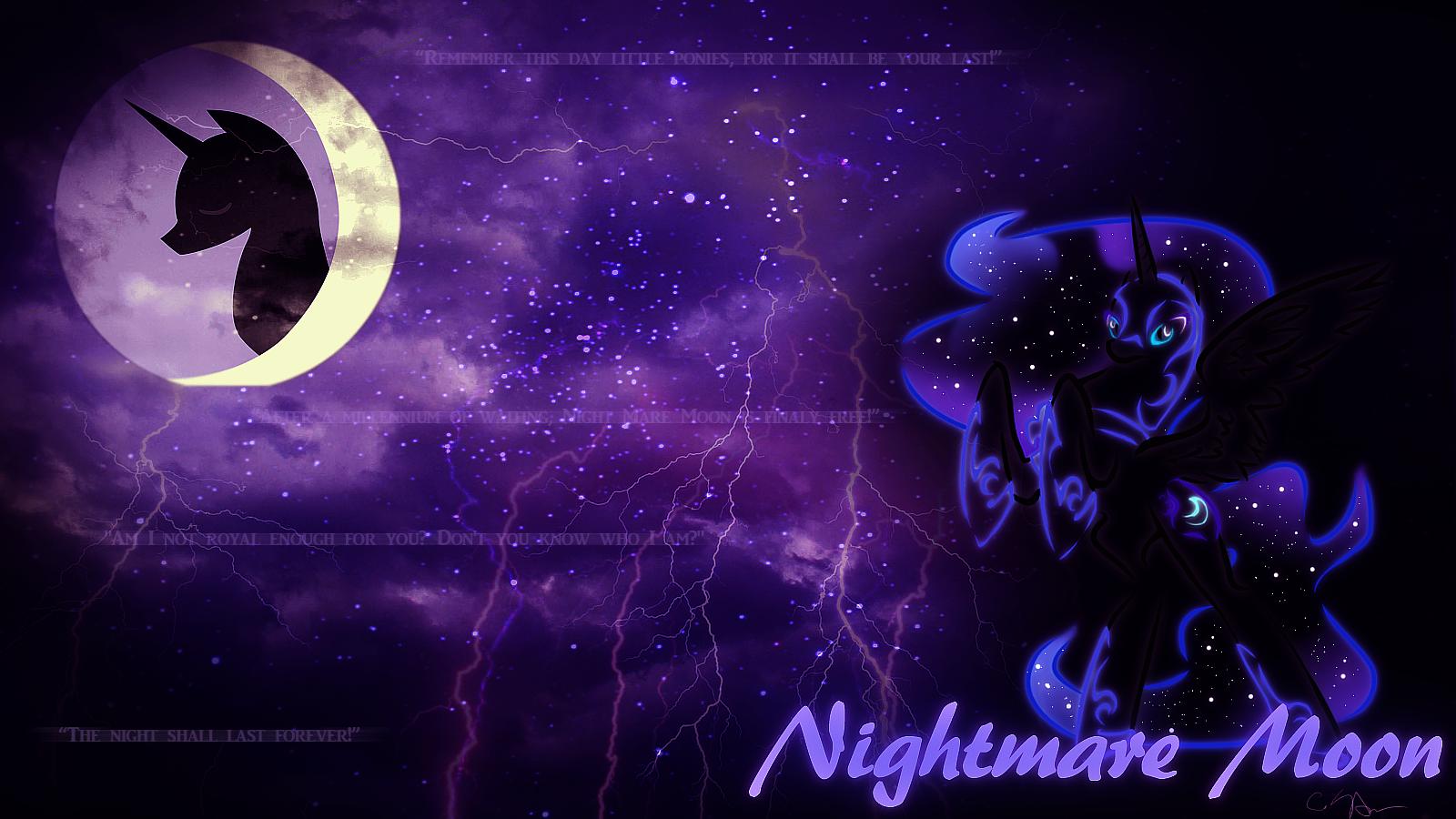 Nightmare Moon Wallpaper by Ayasin 1600x900