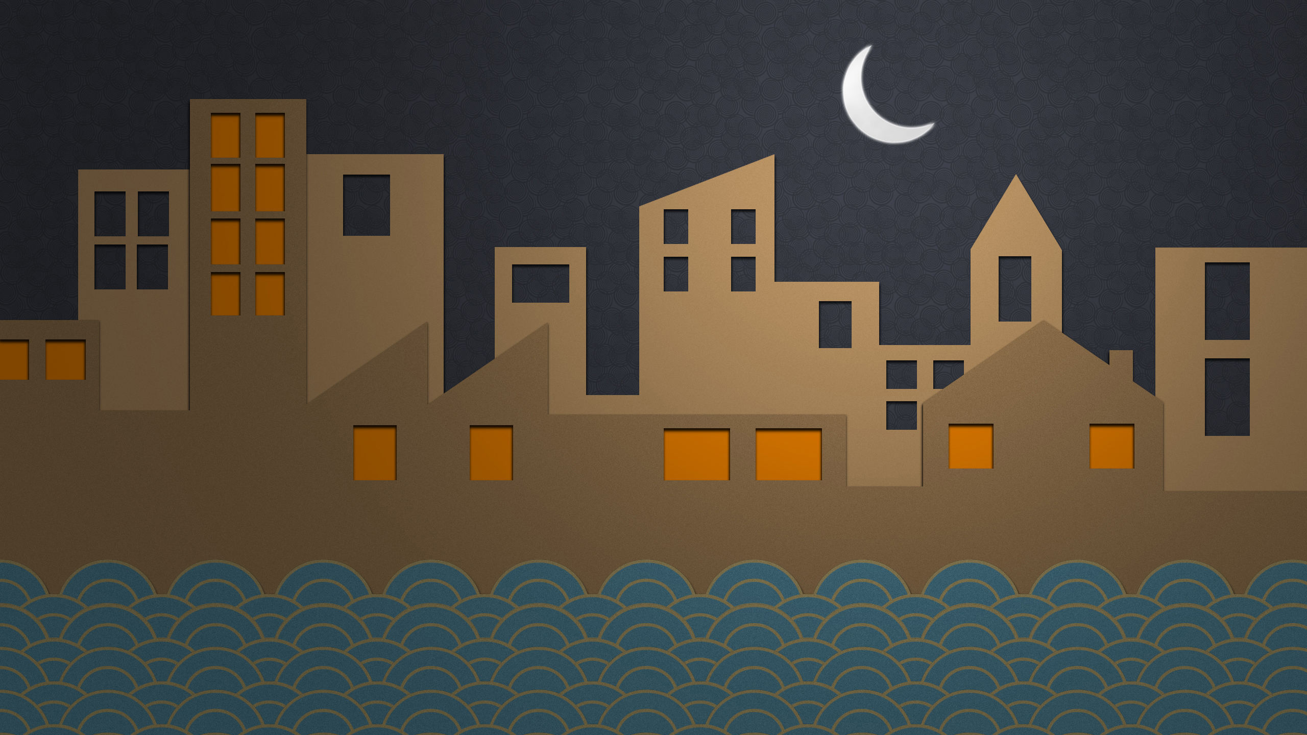 creative moon city wallpaper wallpapers walls 1920x1080 2560x1440