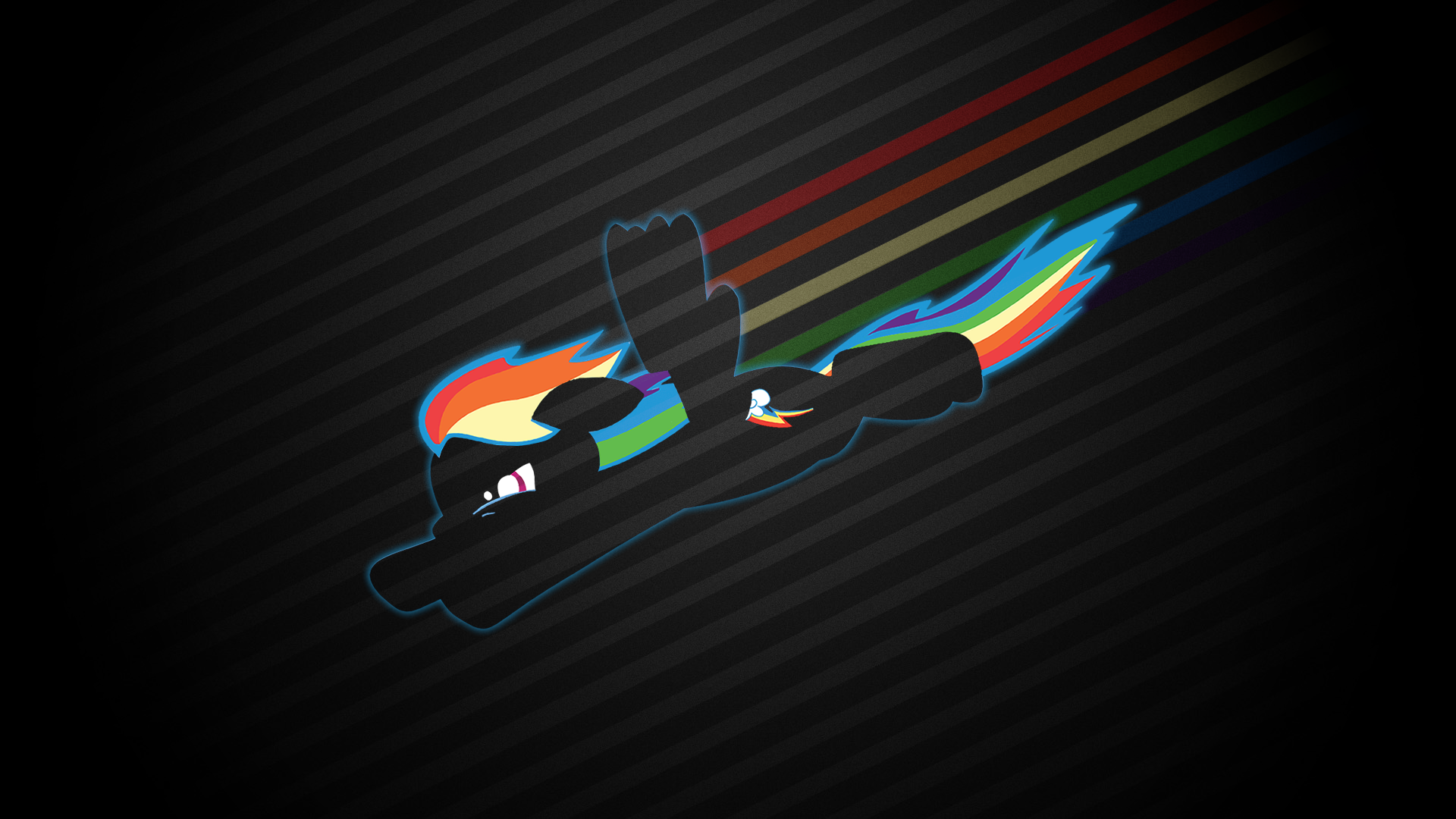 Fastest Mare Alive   Rainbow Dash Wallpaper by smokeybacon 1920x1080