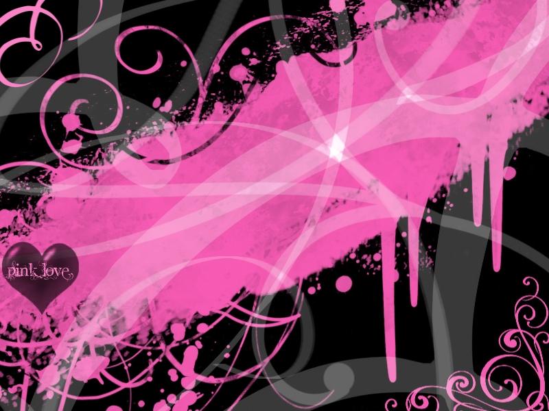 Wallpaper Love Pink Black : Pink Love Wallpaper - WallpaperSafari