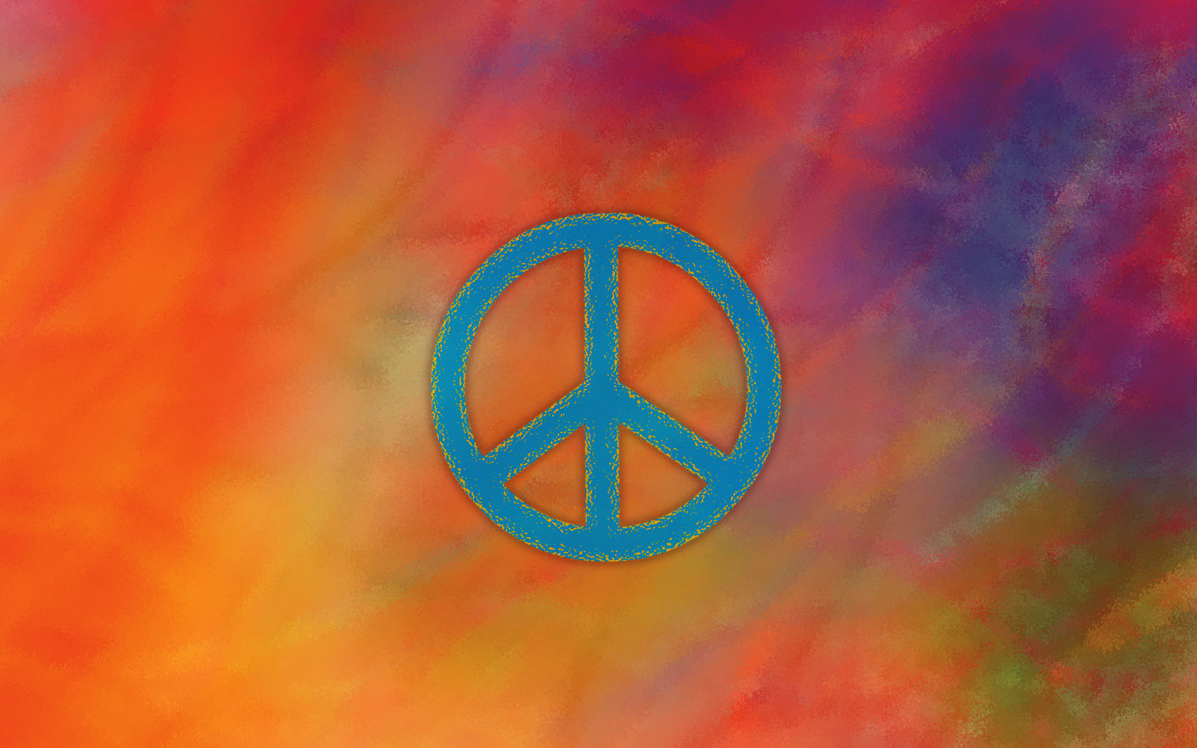 Yoga OM and Peace Symbol Wallpapers 1680x1050