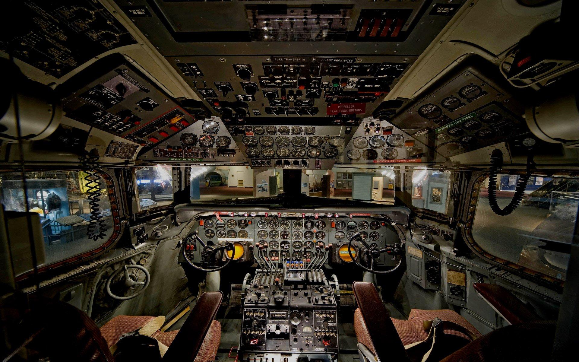 Airplane cockpit wallpaper wallpapersafari for Airplane cockpit wall mural