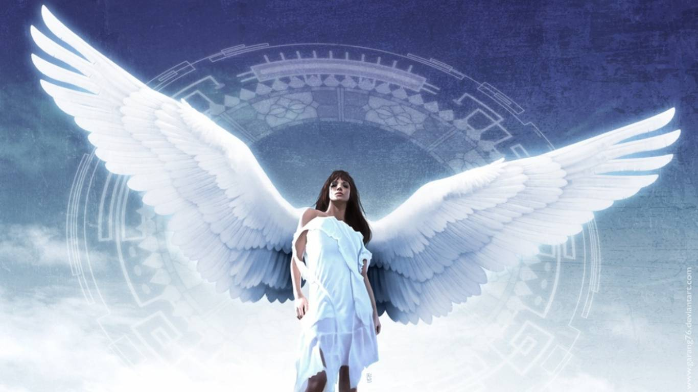 Desperate Fallen Angel   Angel Wallpaper 1366x768