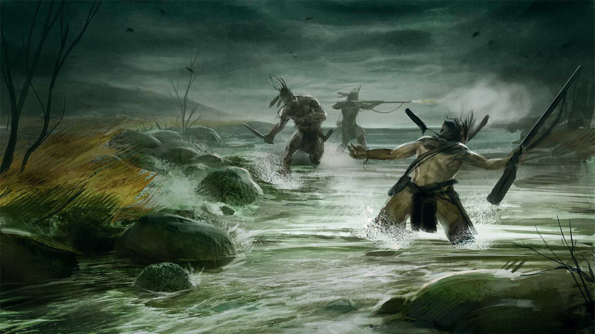 In River   War Games Wallpaper Image featuring Empire Total War 1920x1080