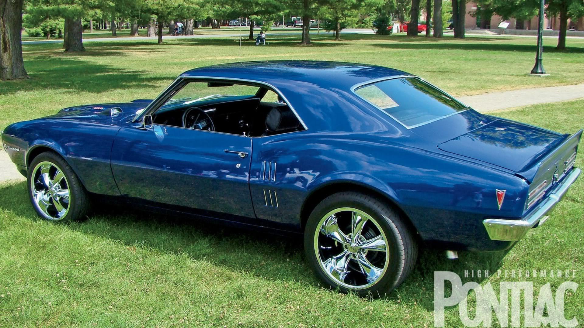 1968 Mag Blue Pontiac Firebird wallpaper background 1920x1080