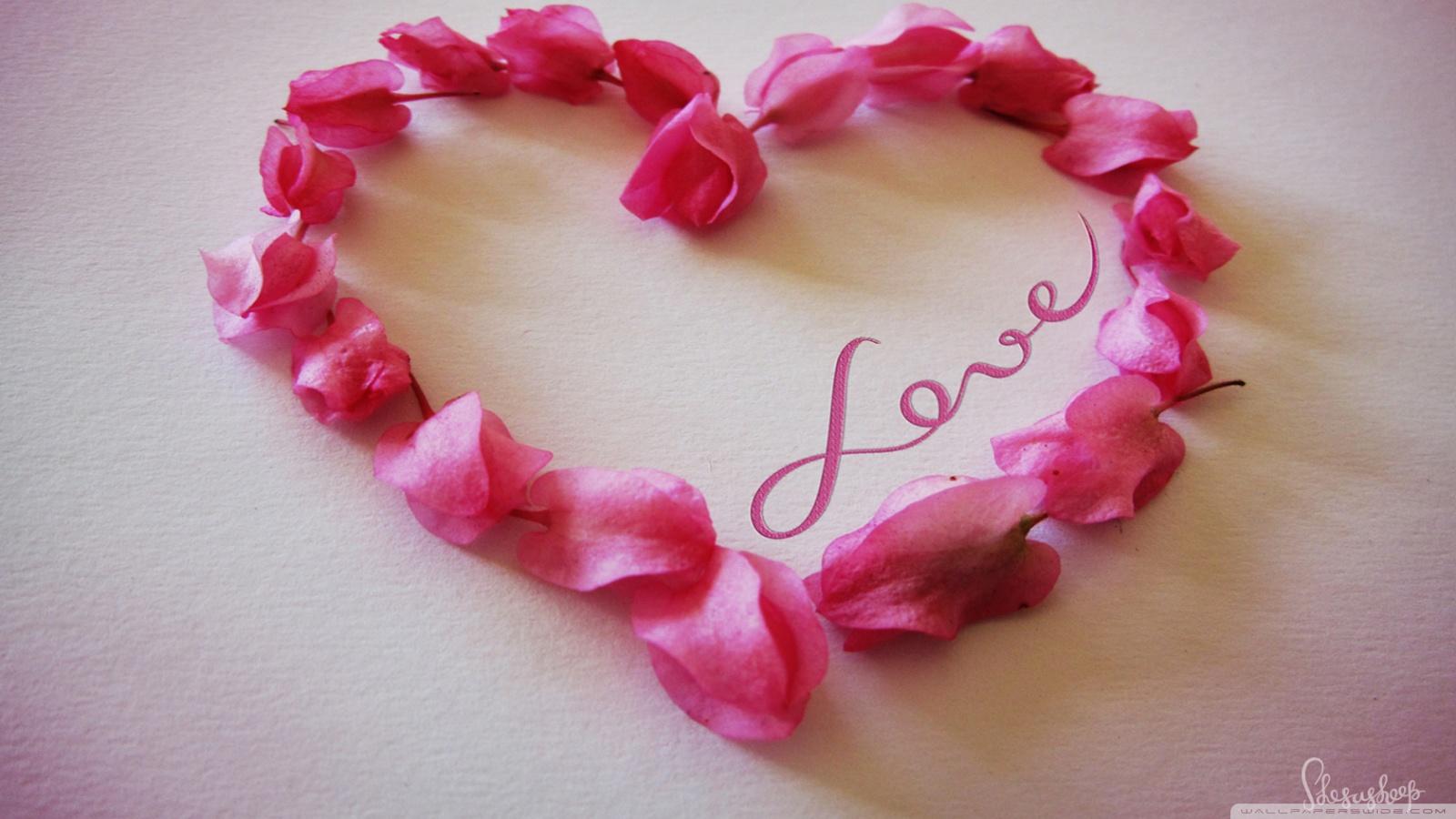 Wallpaper of roses and hearts wallpapersafari - Pink roses and hearts wallpaper ...