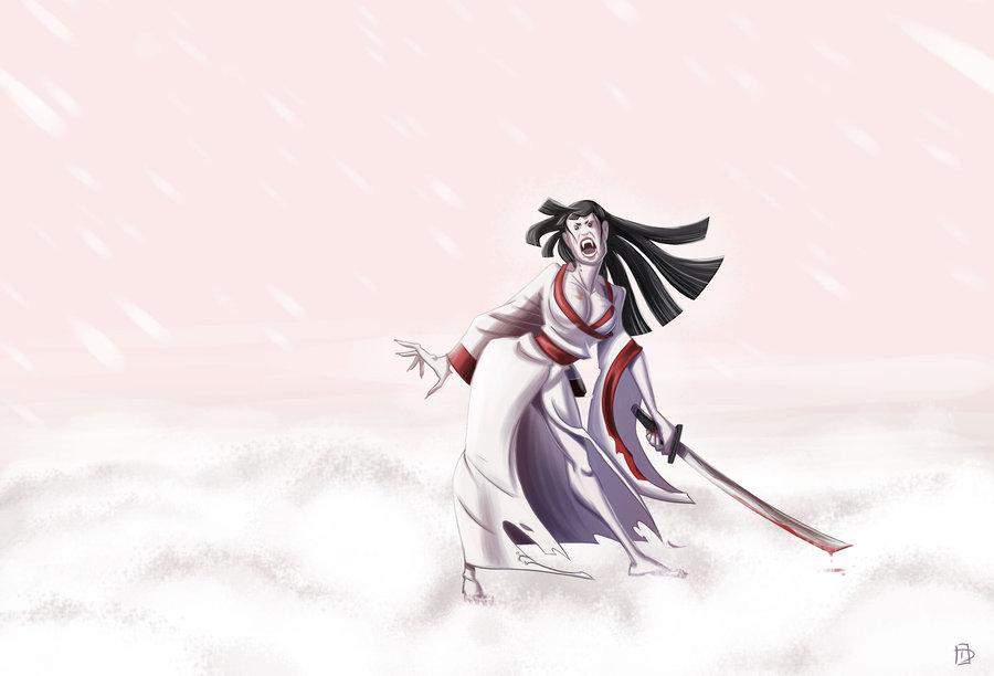 Female Samurai Vampire by Dustin C 900x612