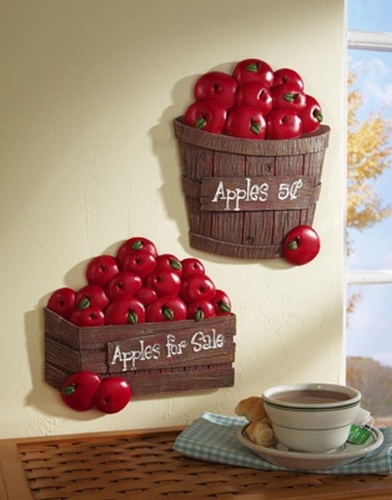 to hunt for apple kitchen decor accessories for your kitchen 550x701