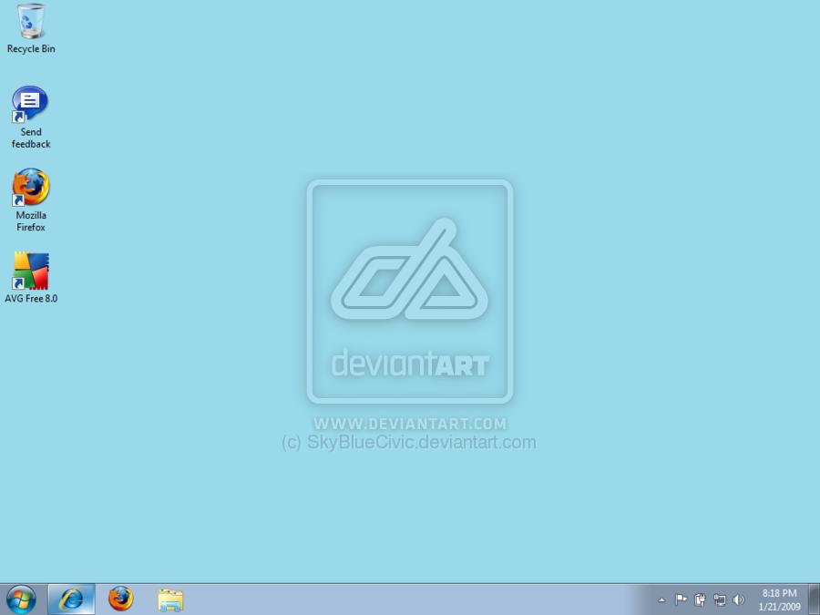 Windows 7 Beta Desktop by SkyBlueCivic 900x675