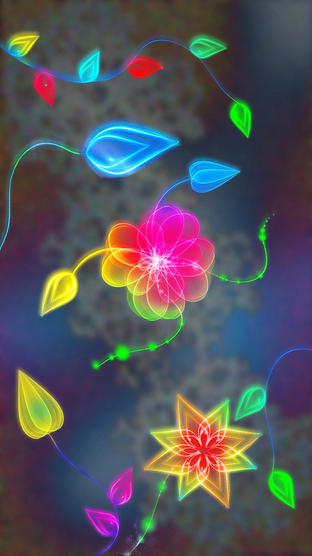 Flowers   Tap to see more flowery colorful patterened abstract 1080x1920