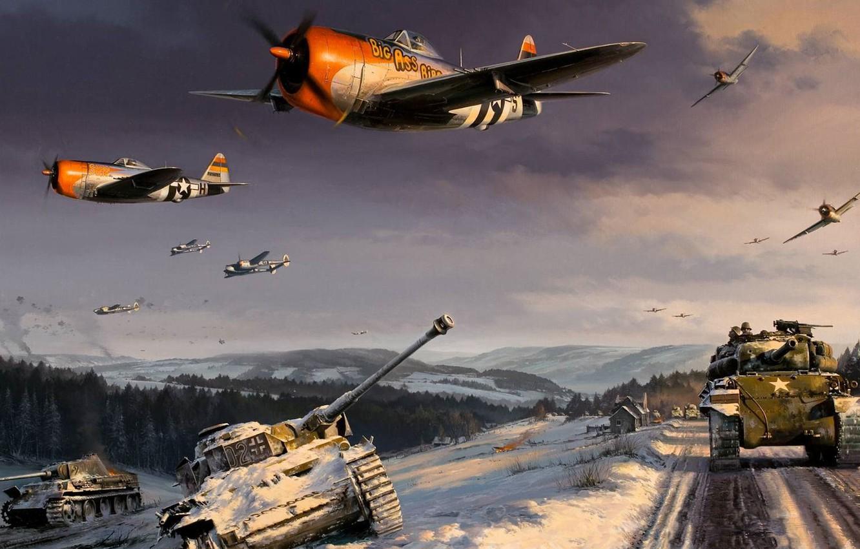 Wallpaper figure art Lightning Thunderbolt World War II 1332x850