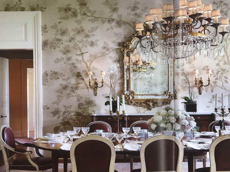 Dining Room Beautiful Dining Room Wallpaper Design Ideas Dining Room 800x600