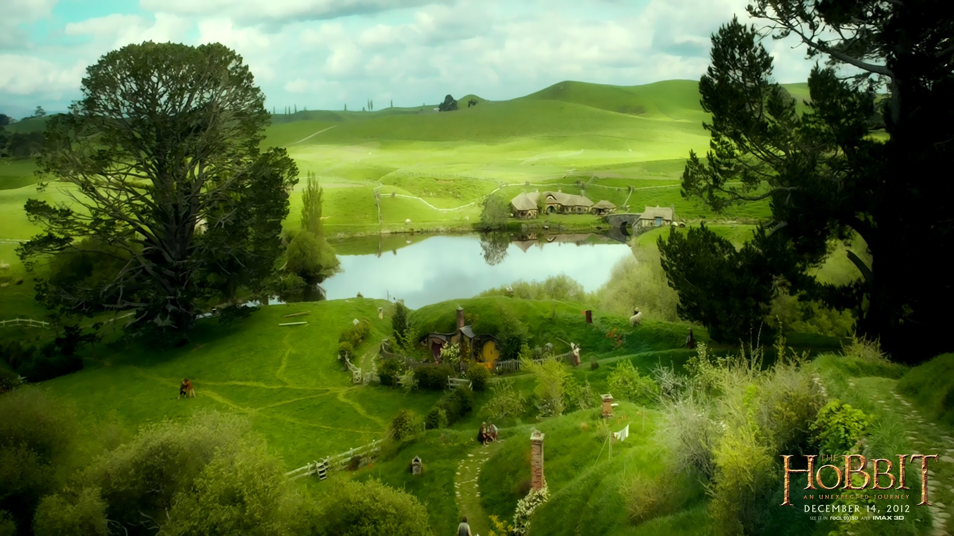 the hobbit the shire wallpaper - wallpapersafari