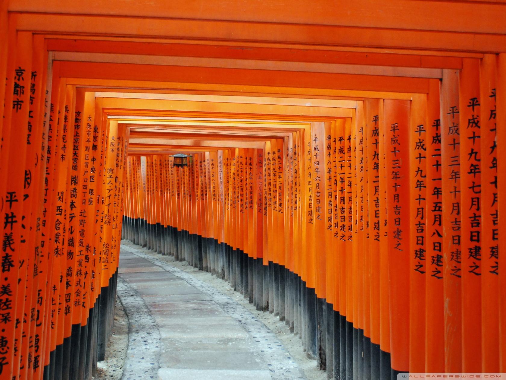 Fushimi Inari Taisha Kyoto Japan 4K HD Desktop Wallpaper for 1680x1260