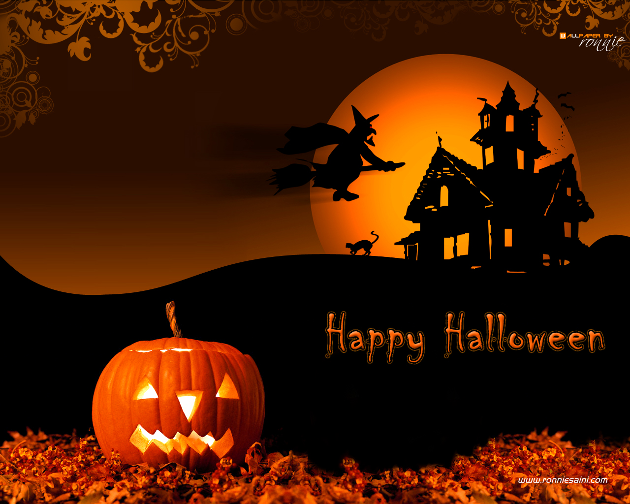 Halloween 3D wallpapers Halloween 3D background 1280x1024