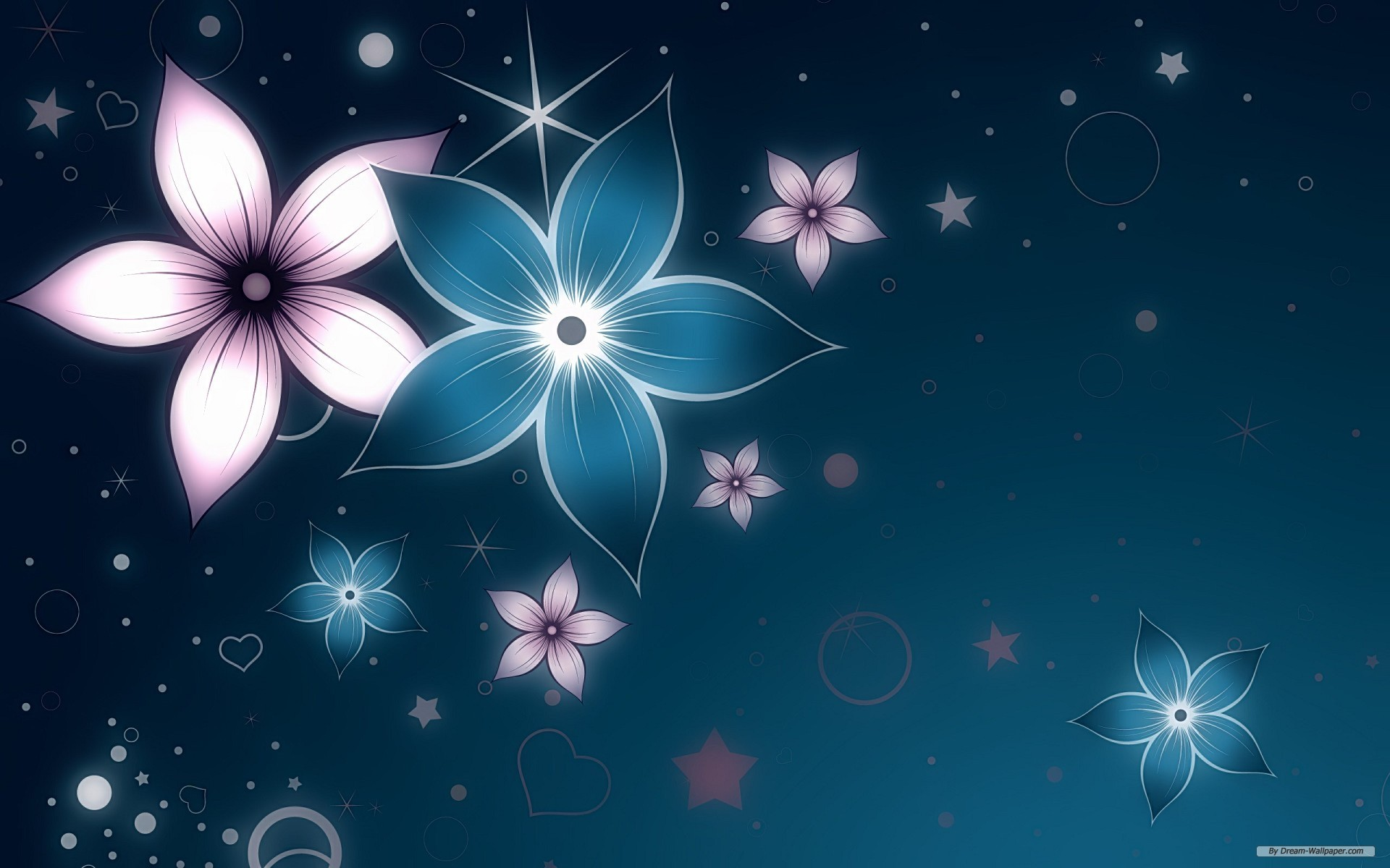 Abstract Flowers HD Wallpaper 1920x1200