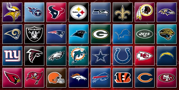 there are 32 teams in the nfl so selecting a single nfl team can be 594x301