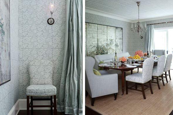 Matching Fabric Wallpaper 590x393