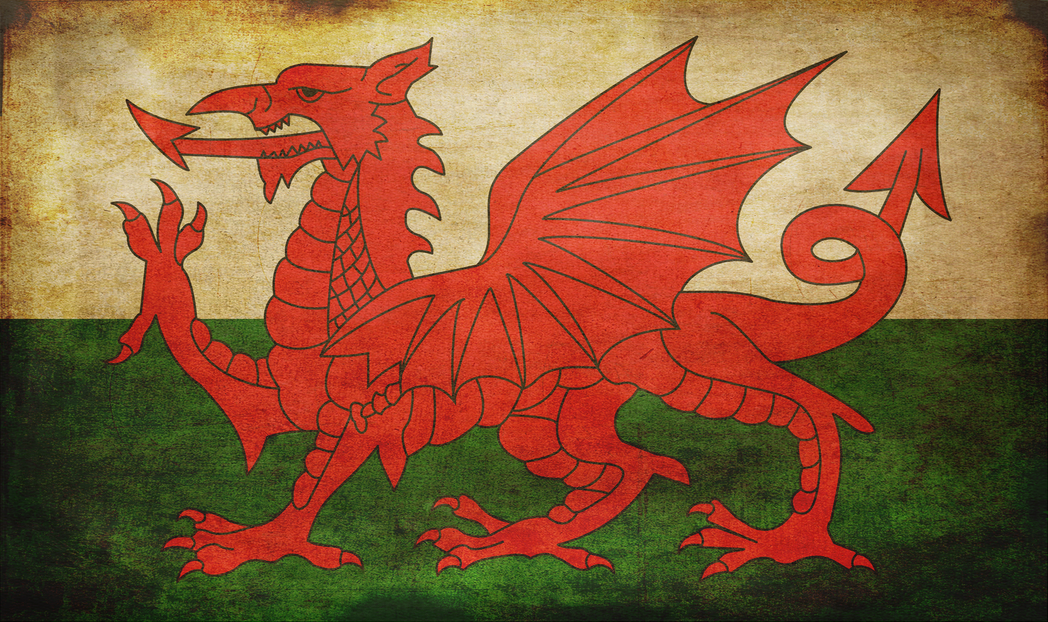 photo Wales Grunge Flag   Picture Pride Proud 3528x2095