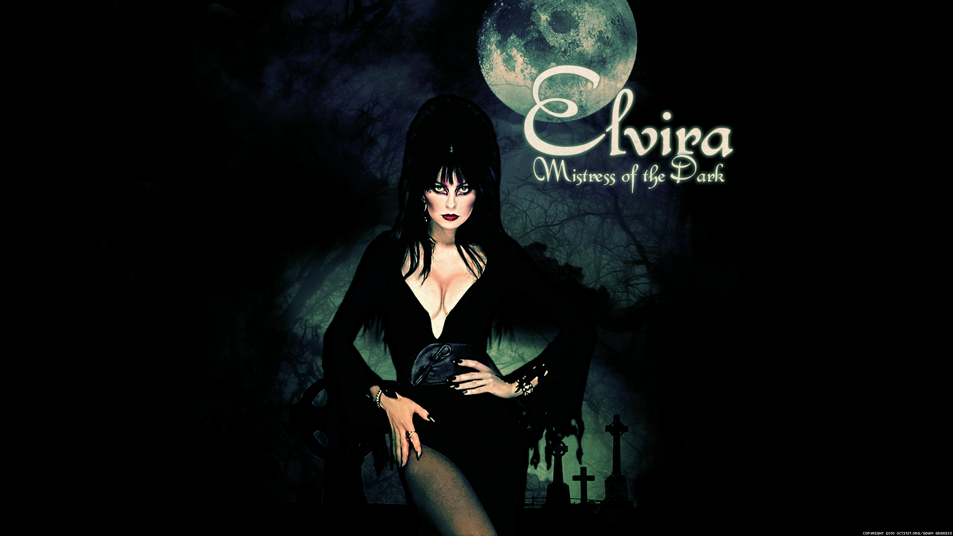 Elvira Mistress of the Dark Widescreen Wallpaper 1920x1080