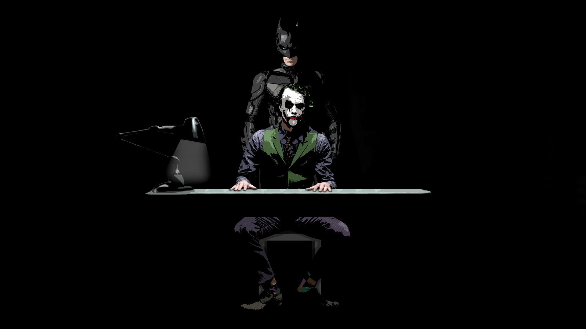 Batman and Joker Sketch 3D Wallpaper   HQ Wallpapers download 100 1920x1080