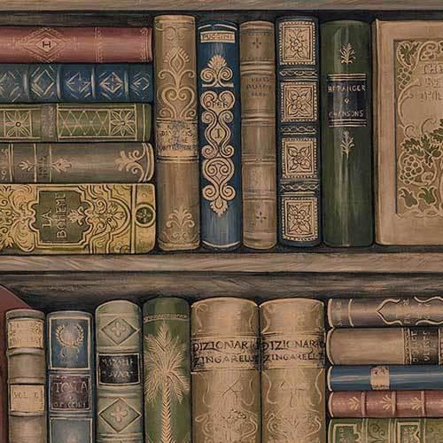 Bookcase Wallpaper Prepasted eBay 500x500