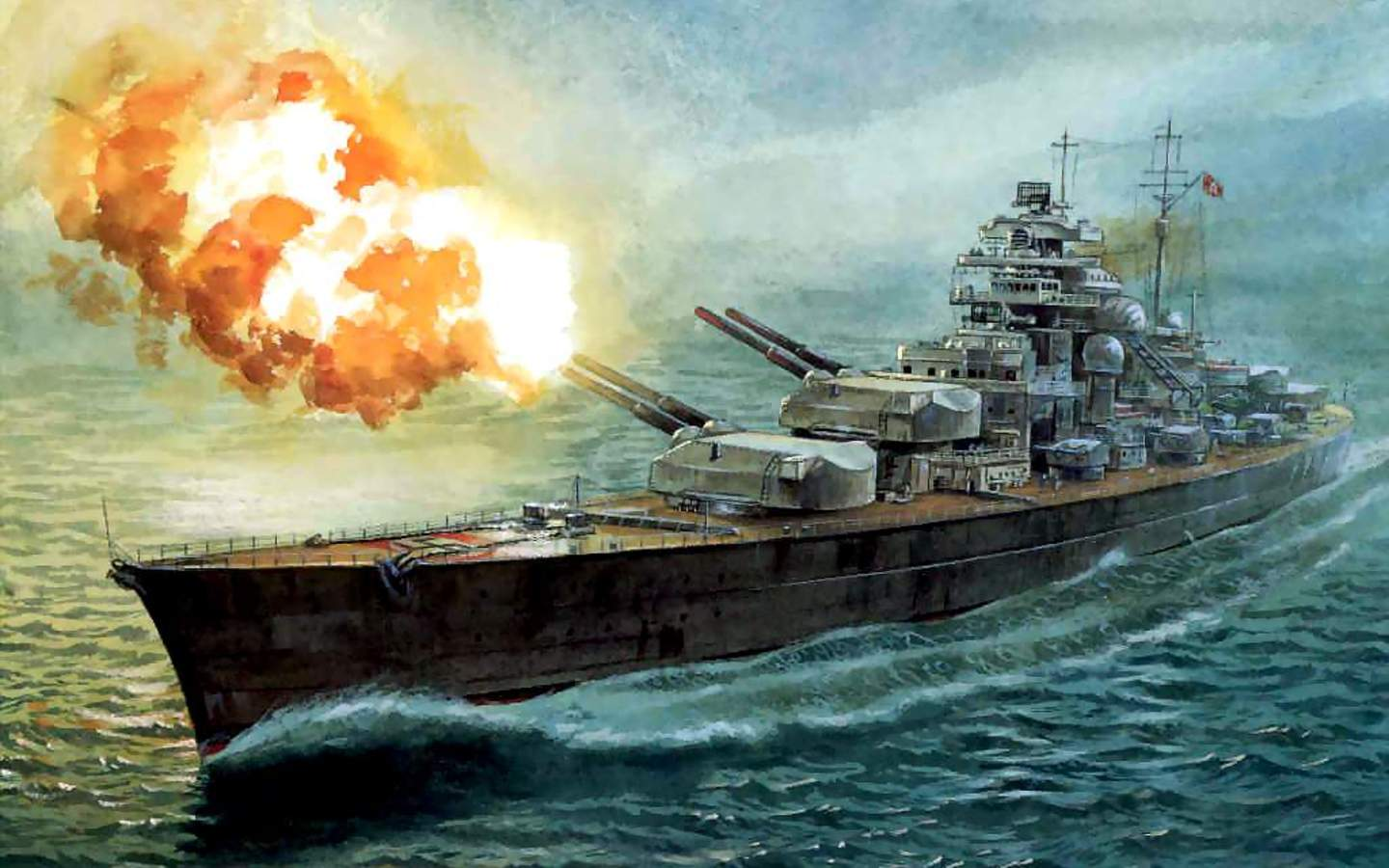Military   German Battleship Bismarck Wallpaper 1440x900