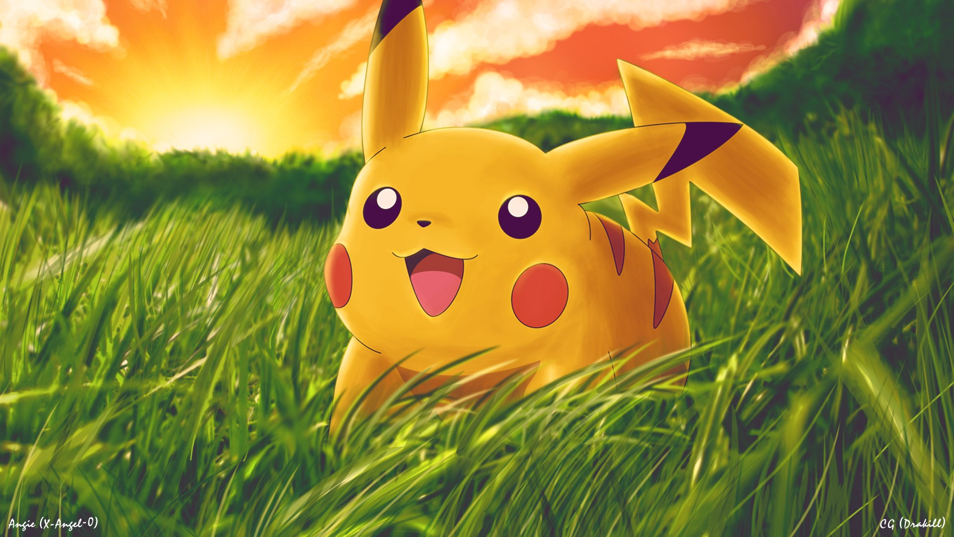 Pikachu Pokemon Cartoon Hd Wallpaper Wallpaper List 1920x1080
