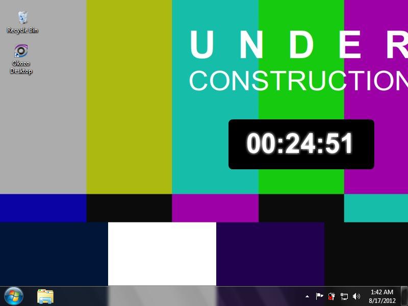 Download TV Clock Desktop Wallpaper Freeware 800x600