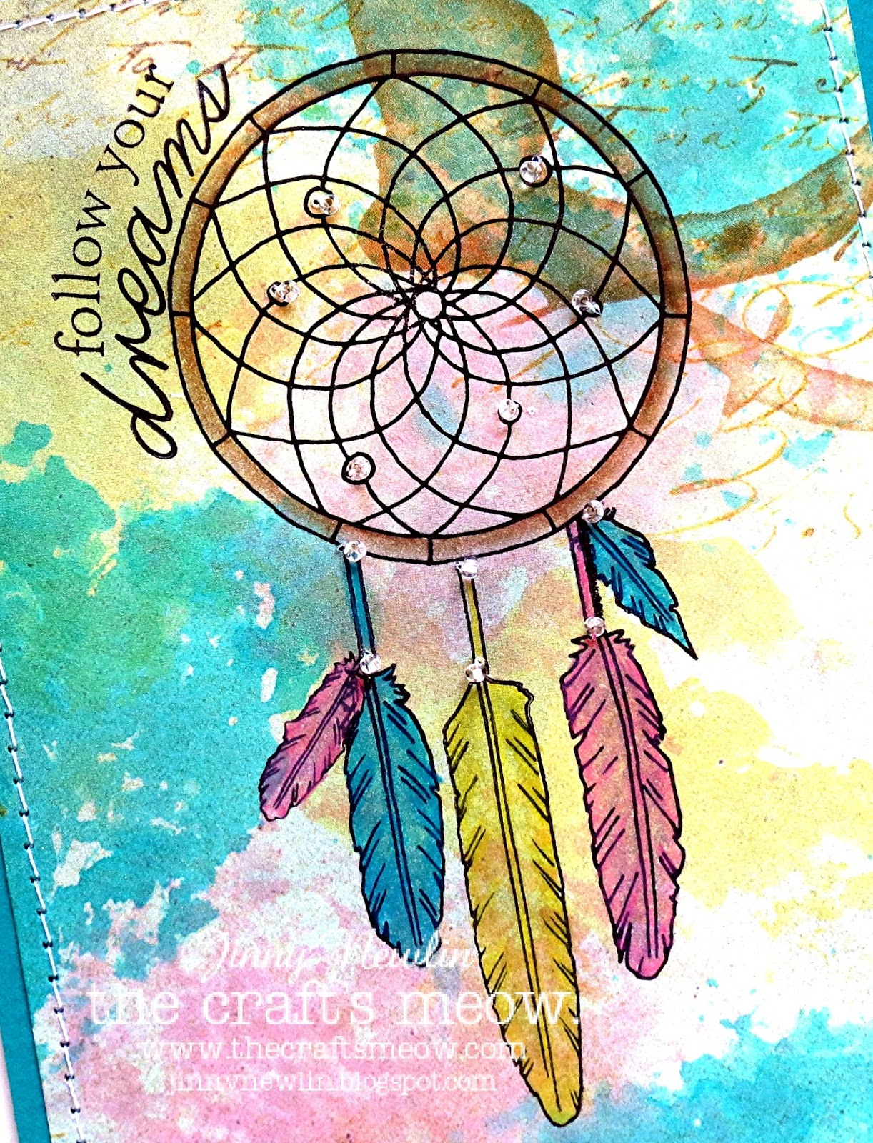 Wallpaper iphone dream catcher - The Feathers And Frame Were Colored In With Pencils And Mineral