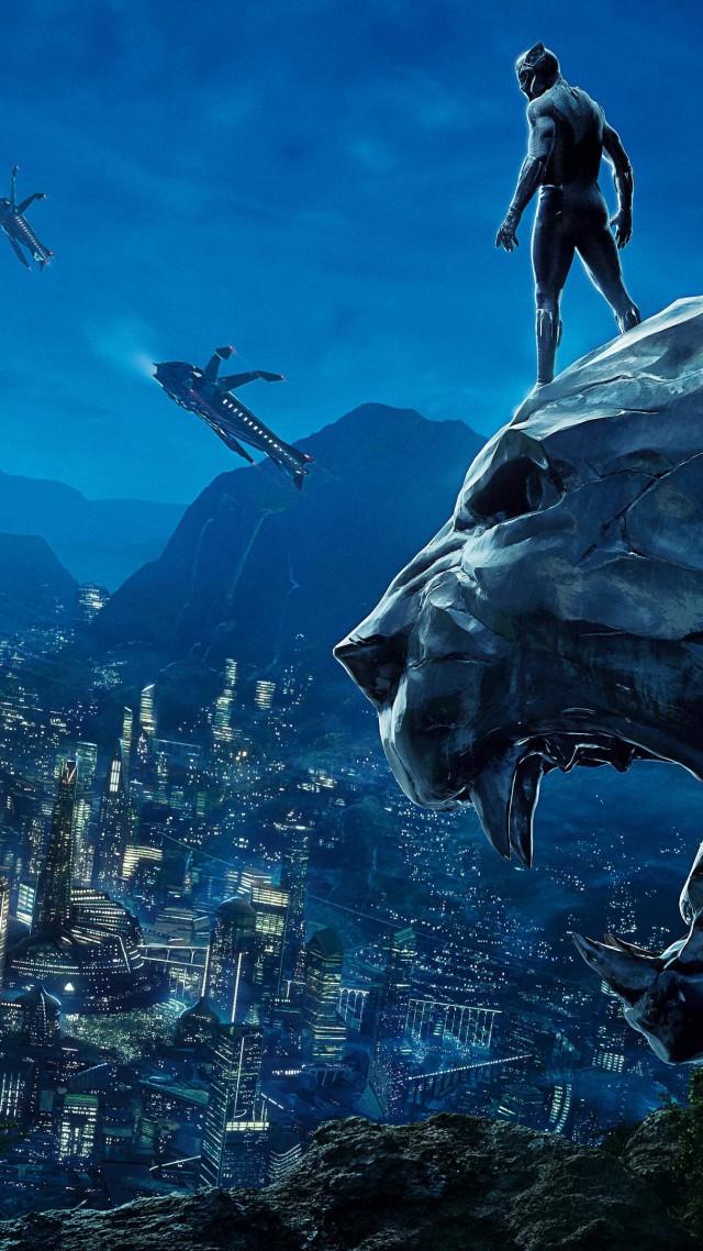 Wallpaper Black Panther poster 4k Movies 17460 640x1138