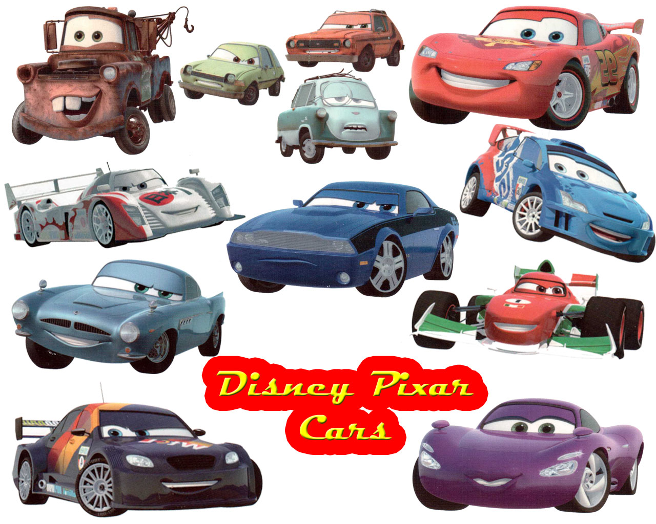 Disney Pixar Cars Favourites Desktop Wallpaper Wallpaper Anime 48252 1280x1024