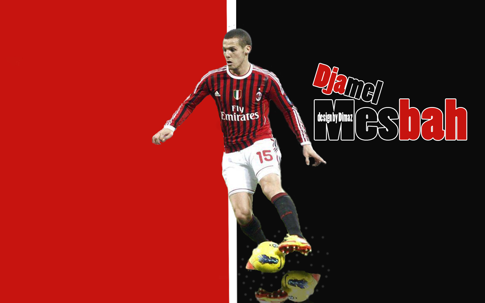 Djamel Mesbah AC Milan Wallpapers Android Pad Tablet PC 1680x1050