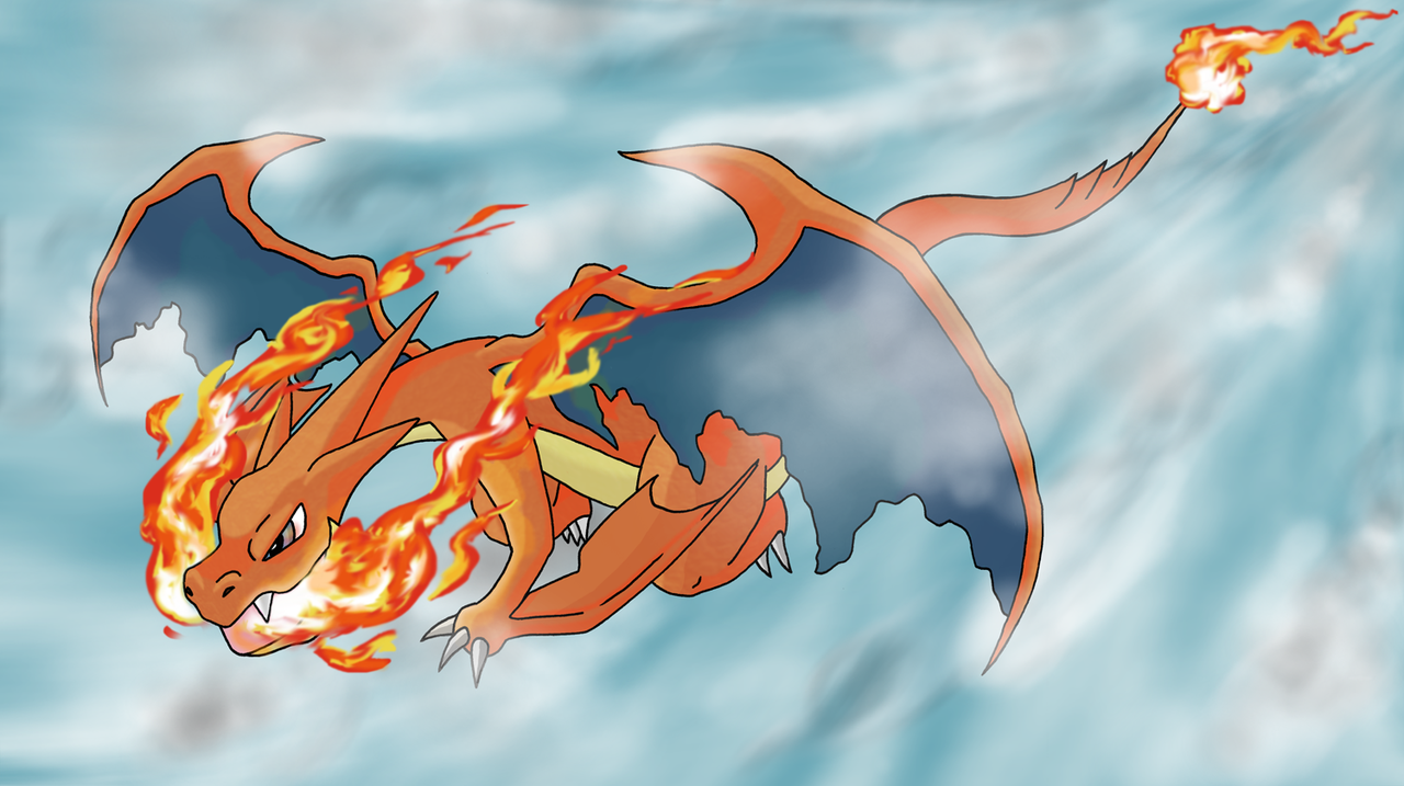 Mega Charizard X And Y Wallpaper Mega charizard y by kumata 1280x717