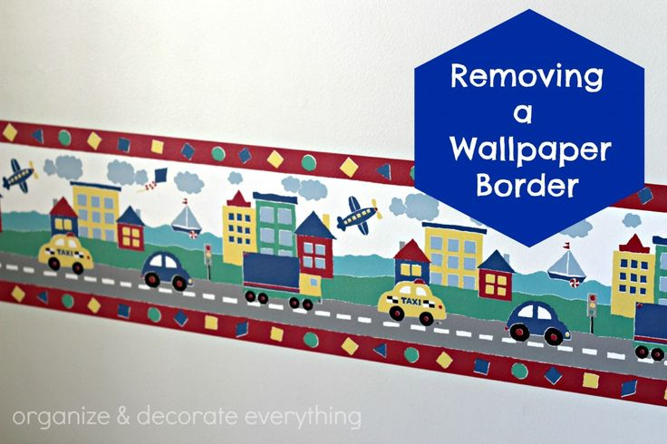 Removing a Wallpaper Border   Organize and Decorate Everything 736x490