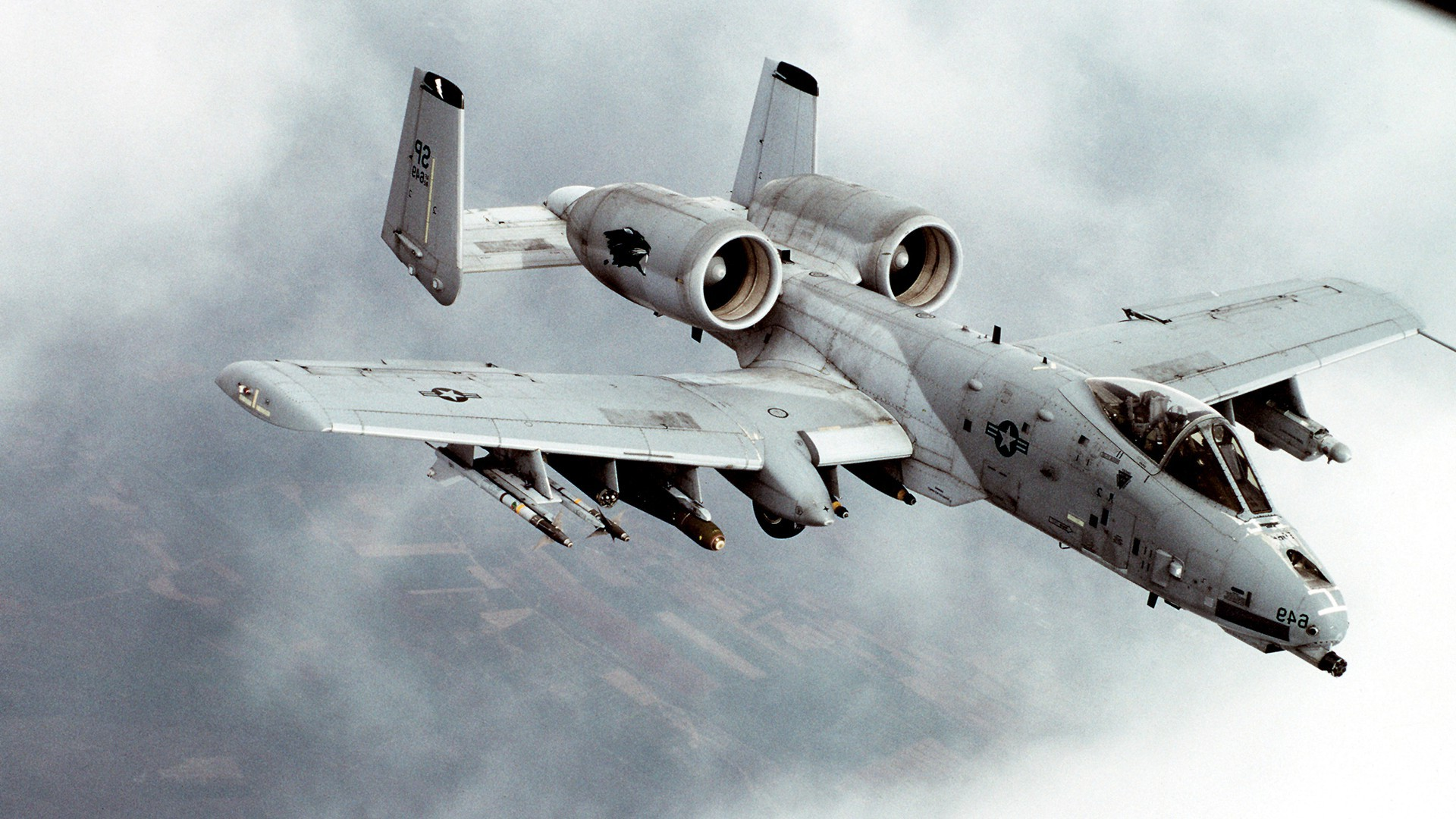 A10 Warthog Airplane Military Aircraft Aircraft Jet 1920x1080