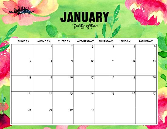 calendar background january 2018   Atchafalayaco 550x425