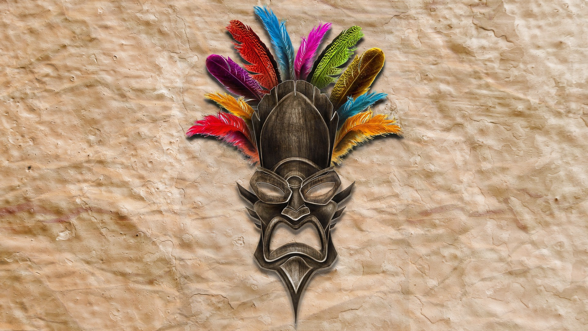Digital Art Feathers Animals Horns wallpaper Gallery 1920x1080