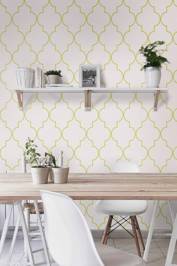 Self adhesive vinyl temporary removable wallpaper wall decal 570x855