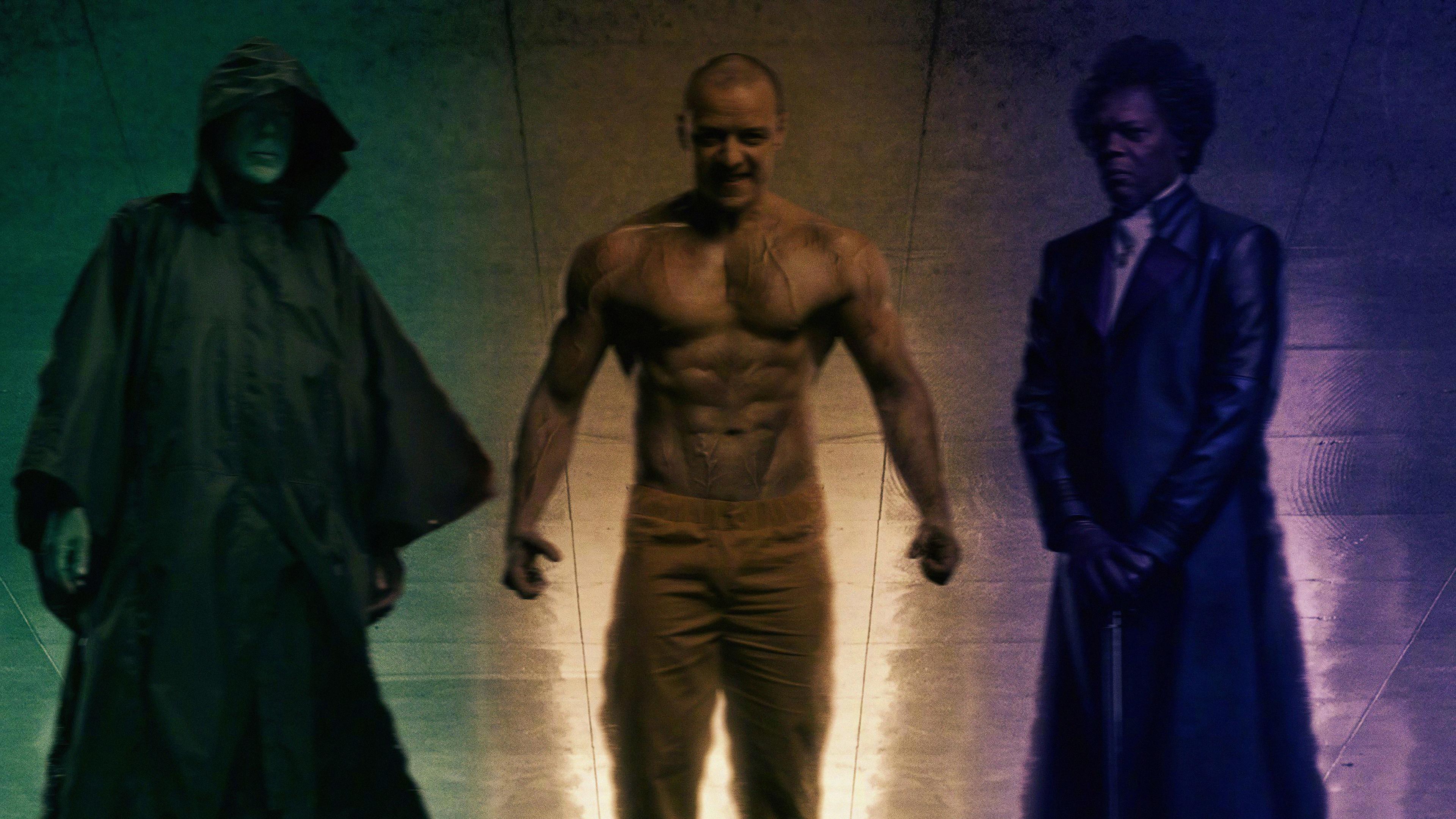 Glass Movie 2019 Bruce Willis James McAvoy Samuel L Jackson 4K 19136 3840x2160