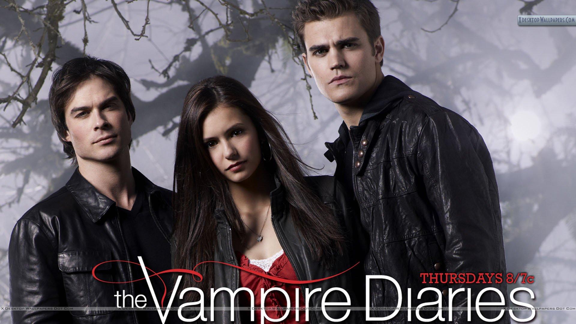 The Vampire Diaries Damon Elena And Stefan Wallpaper 1920x1080