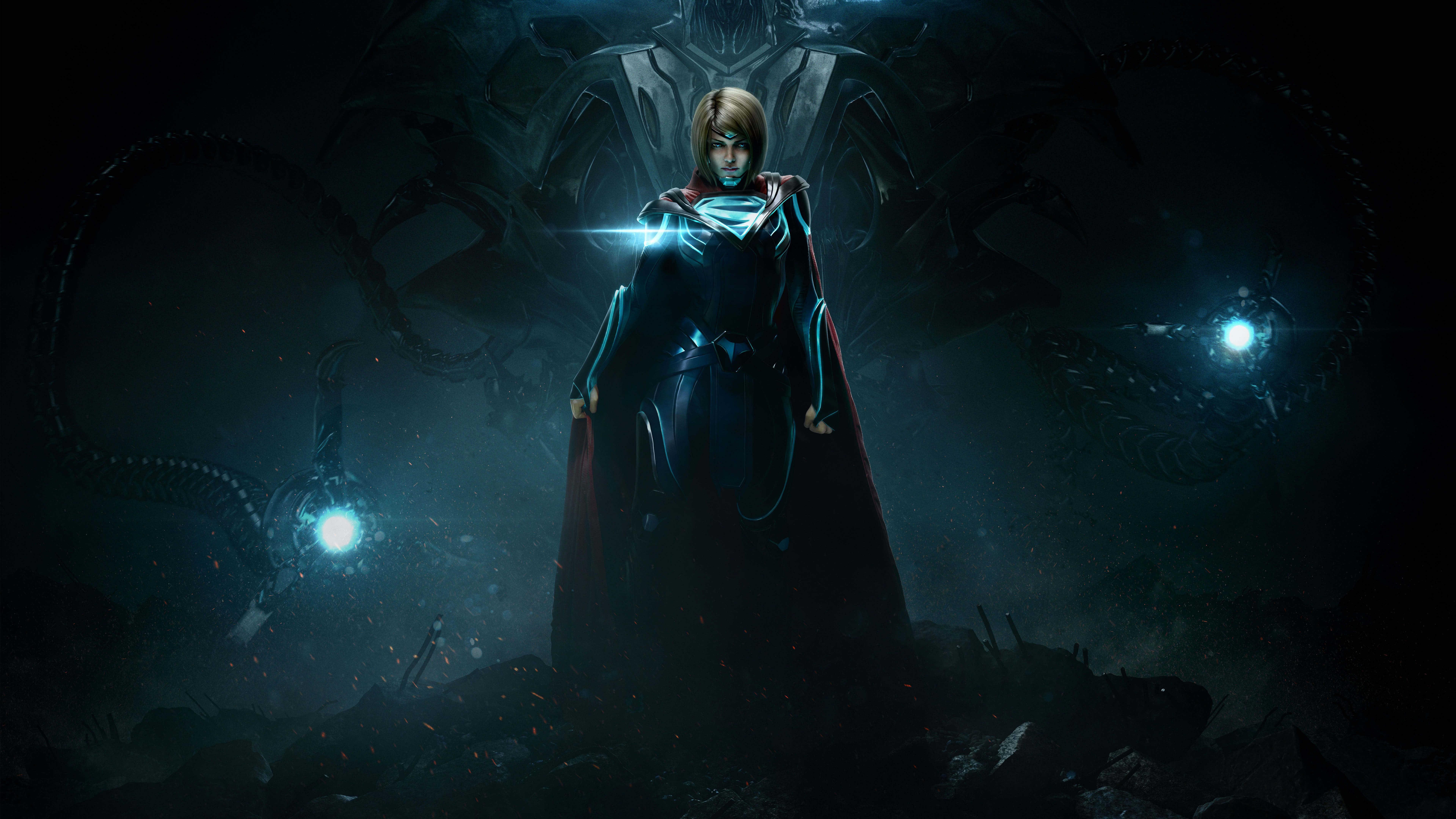 Free Download Injustice 2 Supergirl Uhd 8k Wallpaper Pixelz