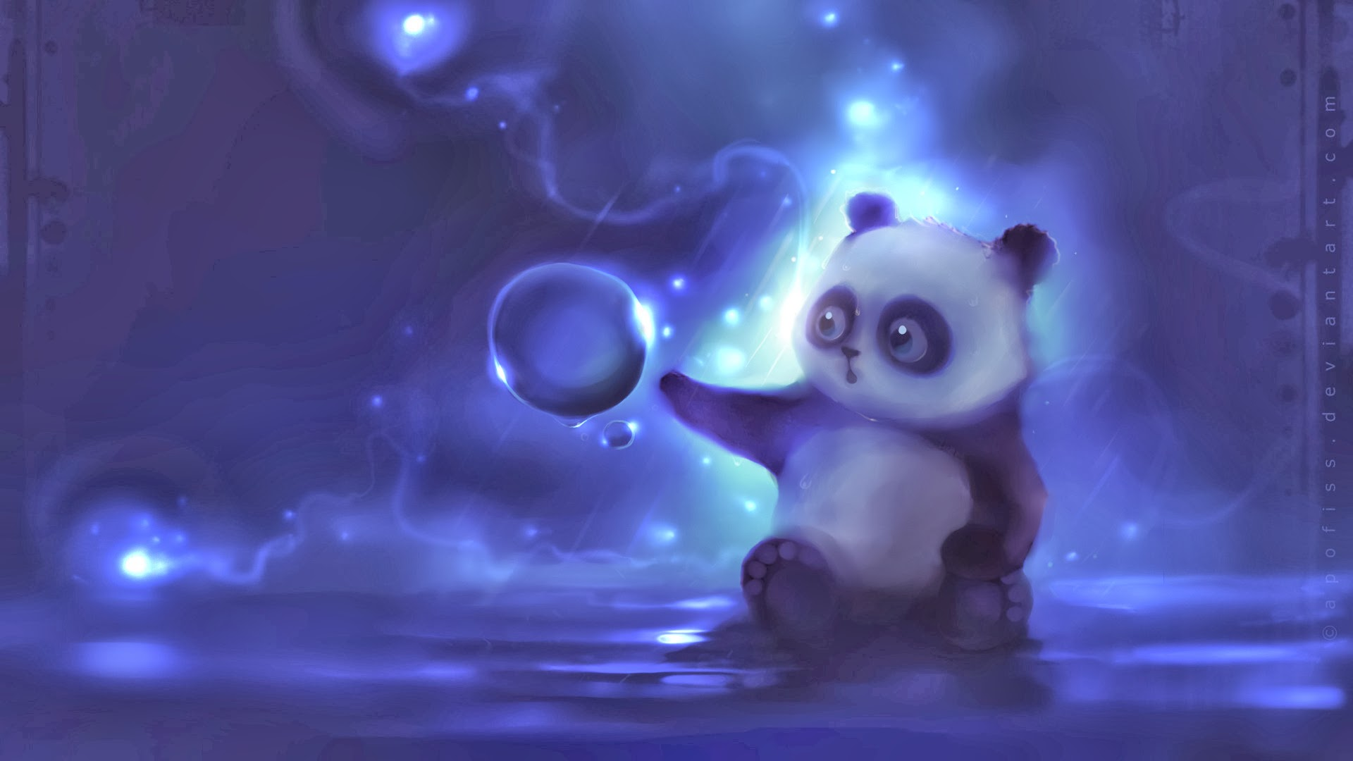 cute little panda animal hd wallpaper 1920x1080
