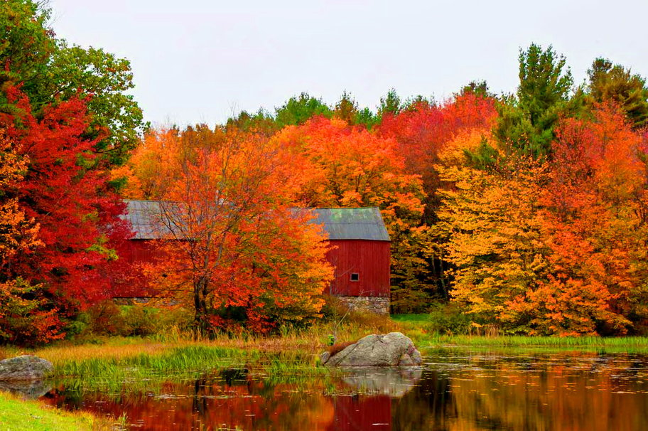 Fall barn wallpaper   ForWallpapercom 912x606