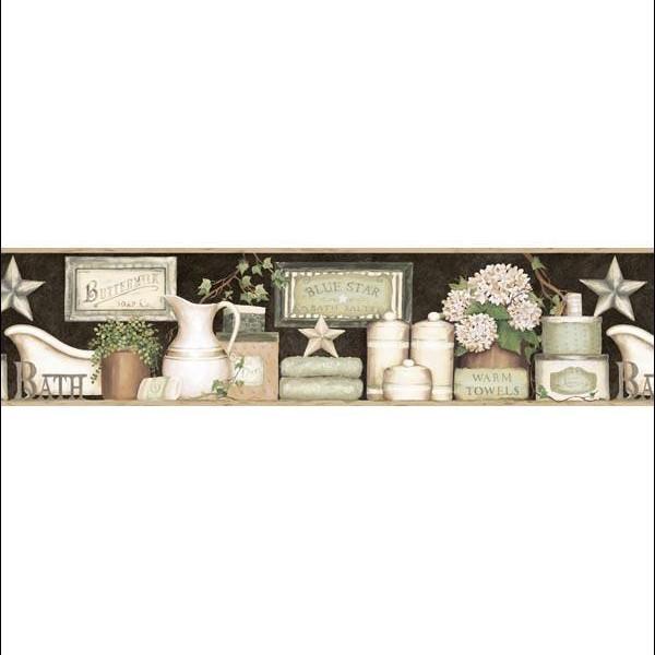 MARTHA BLACK COUNTRY BATH BORDER Wallpaper Warehouse 600x600