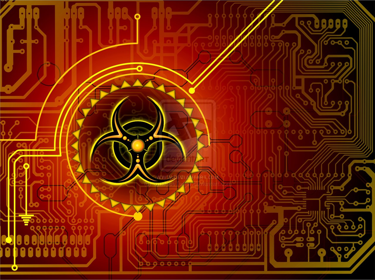 Biohazard Sign Wallpaper 1280x957