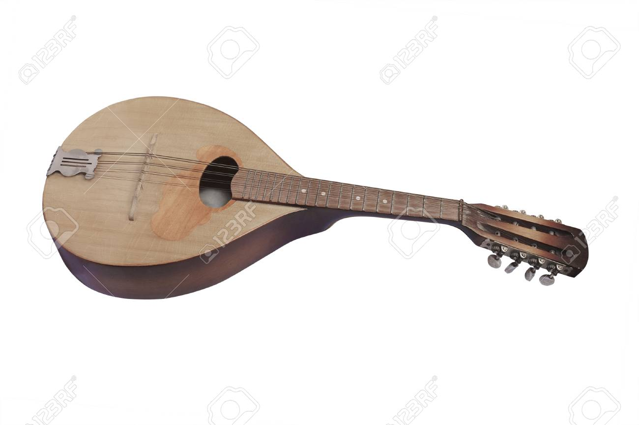 Mandolin Isolated Under The White Background Stock Photo Picture 1300x866
